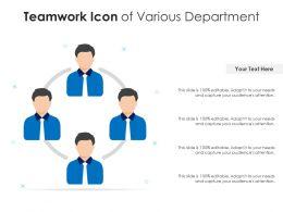 Teamwork Icon Of Various Department