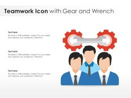 Teamwork Icon With Gear And Wrench