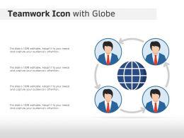 Teamwork Icon With Globe