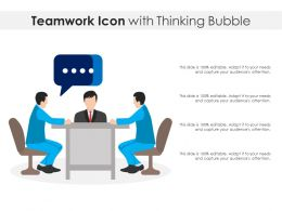Teamwork Icon With Thinking Bubble