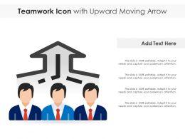 Teamwork Icon With Upward Moving Arrow