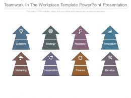 Teamwork In The Workplace Template Powerpoint Presentation