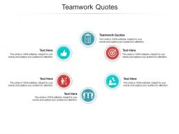 Teamwork Quotes Ppt Powerpoint Presentation Show Slide Cpb