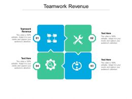 Teamwork Revenue Ppt Powerpoint Infographic Template Background Images Cpb