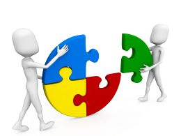teamwork_shown_by_3d_men_making_circular_puzzle_stock_photo_Slide01