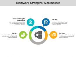 Teamwork Strengths Weaknesses Ppt Powerpoint Presentation Template Cpb