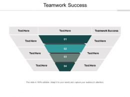 Teamwork Success Ppt Powerpoint Presentation Infographic Template Show Cpb