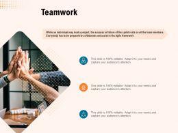 Teamwork Success Ppt Powerpoint Presentation Visual Aids Slides