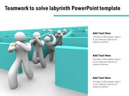 Teamwork To Solve Labyrinth Powerpoint Template