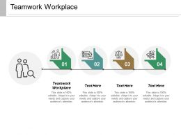 Teamwork Workplace Ppt Powerpoint Presentation Layouts Show Cpb