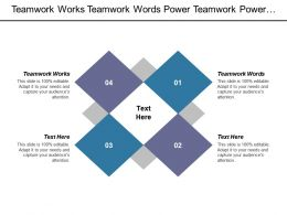Teamwork Works Teamwork Words Power Teamwork Power Teamwork Cpb