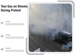 Tear Gas On Streets During Protest