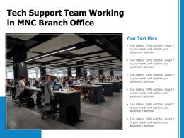 Tech Support Team Working In MNC Branch Office