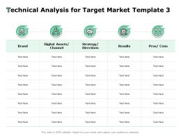 Technical Analysis For Target Market Brand Ppt Powerpoint Presentation Professional