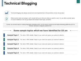 Technical Blogging Ppt Summary Templates