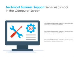 Technical Business Support Services Symbol In The Computer Screen
