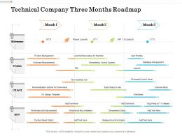 Technical Company Three Months Roadmap