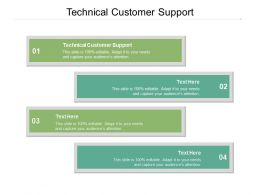 Technical Customer Support Ppt Powerpoint Presentation Inspiration Samples Cpb