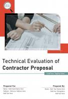 Technical Evaluation Of Contractor Proposal Example Document Report Doc PDF Ppt