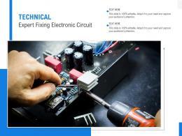 Technical Expert Fixing Electronic Circuit
