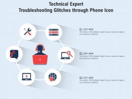 Technical Expert Troubleshooting Glitches Through Phone Icon
