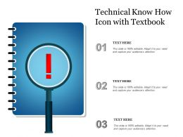 Technical Know How Icon With Textbook