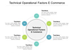 Technical Operational Factors E Commerce Ppt Powerpoint Presentation File Shapes Cpb