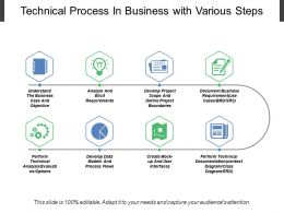Technical Process In Business With Various Steps