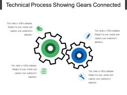 Technical Process Showing Gears Connected