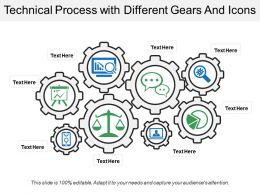 Technical Process With Different Gears And Icons