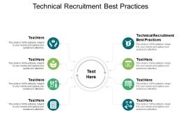 Technical Recruitment Best Practices Ppt Powerpoint Presentation Aids Cpb