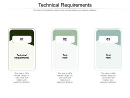 Technical Requirements Ppt Powerpoint Presentation Pictures Slides Cpb