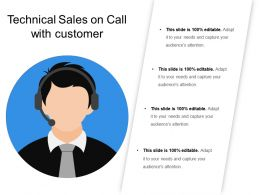 Technical Sales On Call With Customer