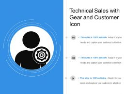 Technical Sales With Gear And Customer Icon