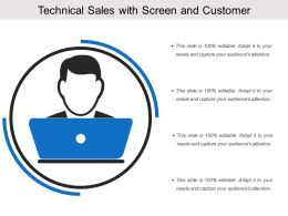 Technical Sales With Screen And Customer