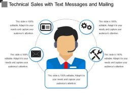 Technical Sales With Text Messages And Mailing
