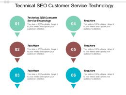Technical SEO Customer Service Technology Ppt Powerpoint Presentation Styles Designs Cpb