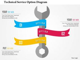 Technical Service Option Diagram Flat Powerpoint Design