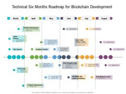 Technical Six Months Roadmap For Blockchain Development
