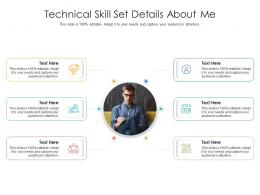 Technical Skill Set Details About Me Infographic Template