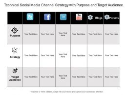 Technical Social Media Channel Strategy With Purpose And Target Audience