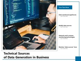 Technical Sources Of Data Generation In Business