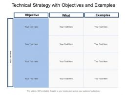 Technical Strategy With Objectives And Examples