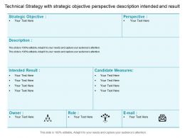 Technical Strategy With Strategic Objective Perspective Description Intended And Result