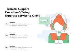 Technical Support Executive Offering Expertise Service To Client