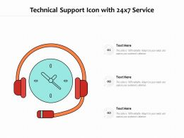 Technical Support Icon With 24x7 Service