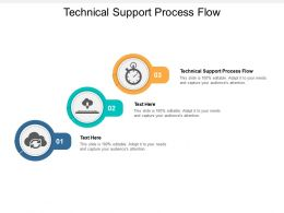 Technical Support Process Flow Ppt Powerpoint Presentation Pictures Graphic Tips Cpb