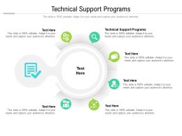 Technical Support Programs Ppt Powerpoint Presentation Layouts Format Ideas Cpb