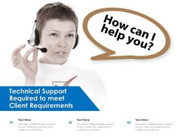 Technical Support Required To Meet Client Requirements