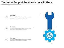 Technical Support Services Icon With Gear